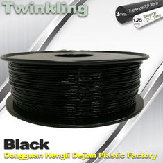 China Twinkling 3D Printer Filament 1.75mm Black Filament 1.3Kg / Roll Flexible 3d Filament supplier