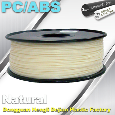 China High Hardness Flexible 3d Filament PC / ABS Filament 3mm 1.75mm Filament supplier