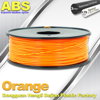 China Orange  3D Printing Materials 1.75mm ABS 3D Printer Filament In Roll supplier