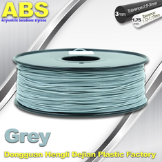 China Grey  ABS 3D Printer Filament 3mm / 1.75mm 1.0 Kg / Roll Filament supplier
