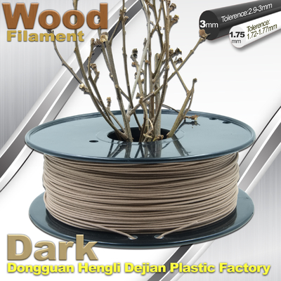 China Brown Materia 0.8kg / Roll 3D Printer Wood Filament 1.75mm 3mm supplier