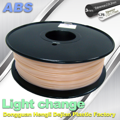 China ABS Light Change Color Changing Filament Stable In Performance supplier