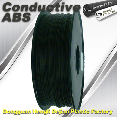 China Good elasticity universal ABS Conductive 3d Printer Filament in Black supplier