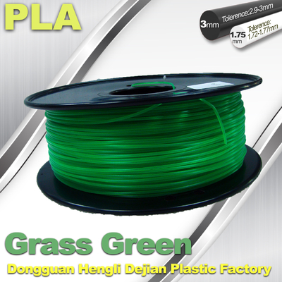 China Grass Green biodegradable 3d printer filament PLA 1.75mm materials supplier