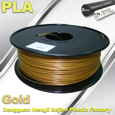 China Cubify And Up 3D Printer Filament PLA 1.75mm 3.0mm Gold Filament supplier