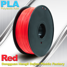 China PLA  Filament, 1.0kg /  roll ,1.75mm / 3.0mm  3D Printer Filament Red colors supplier