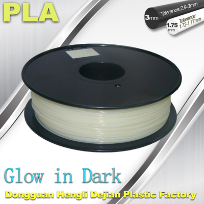 China 3D Printer Material Glow In The Dark Filament Green1.75 / 3.0mm PLA supplier