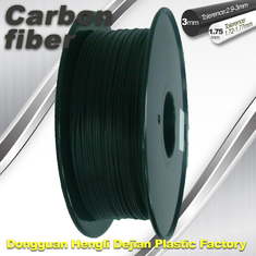China High Strength Carbon Fibre 3D Printer Filament 1.75 Mm Scrub Black 220°C Melt Print supplier