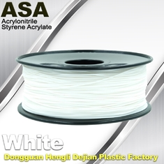China ASA 3D Printer Filament Ultraviolet Resist 1.75 / 3.0mm Black White Colors supplier