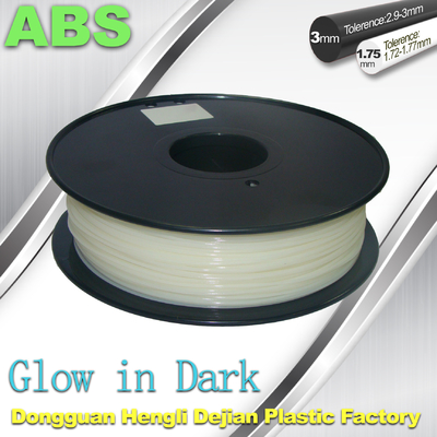 China Good Toughness Glow In The Dark ABS Filament  For 3D Printing supplier