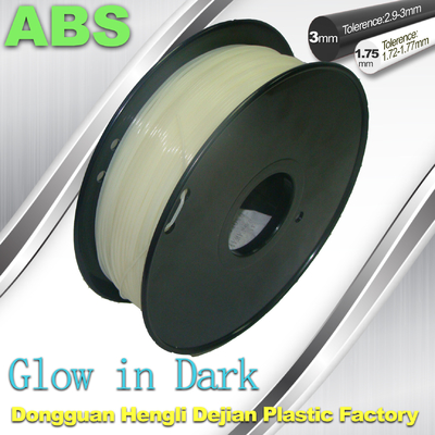 China Markerbot , RepRap Glow in The Dark 3d Printer Filament  , 3D Printing Filament ABS supplier