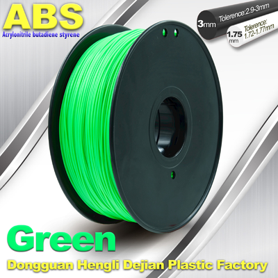 China Customized Green1.75mm / 3.0mm 1.0KgG / roll ABS 3D Printer Filament supplier