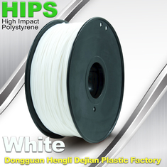 China Custom White HIPS 3D Printer Filament 1.75mm / 3mm , Reusable 3D Printing Material supplier