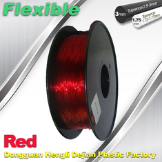 China Professional Eco Friendly Flexible( TPU )  Red 3D Printer Filament 1.75mm supplier