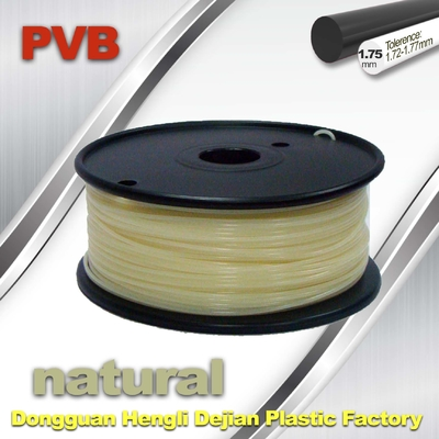 China Natural Color 1.75mm PVB 3D Printer Filament 0.5kg Net Weight supplier