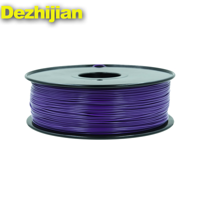 China Purple 1.75mm 3d Filament PETG ABS PLA High Strength No Block Nozzle supplier