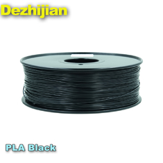 China ODM PLA 3d Printer Filament Dimensional Accuracy +/- 0.03 mm 1 kg Spool 1.75 mm Black supplier