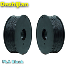 China Black 3d Printer Filament PLA 1.75 Mm Heating Bed Temperature 50℃ supplier