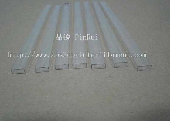 China Transparent Square PC Hard Plastic Tubes For Electronic Appliances , Lighting Non - toxic supplier