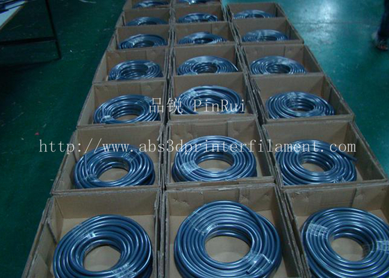 China Fluorescence PVC Plastic Flexible Hose Blue / Green For Automobiles , Computers , Lighting supplier