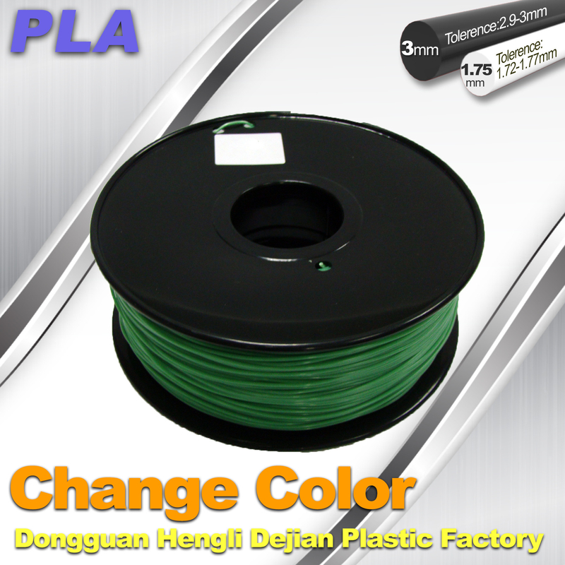 1 75 / 3 0mm 3D Printing PLA Filament , Color Changing