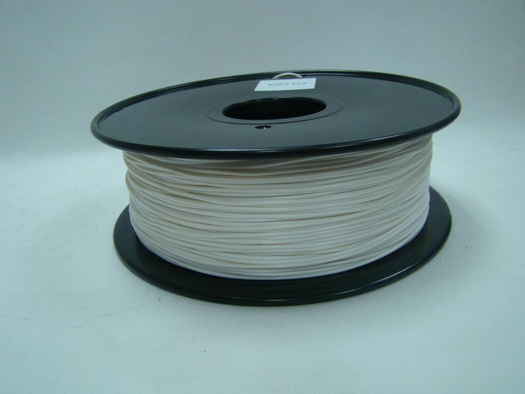 Soft PLA 3D Printer Filament, good flexibility 1 75 / 3 0mm