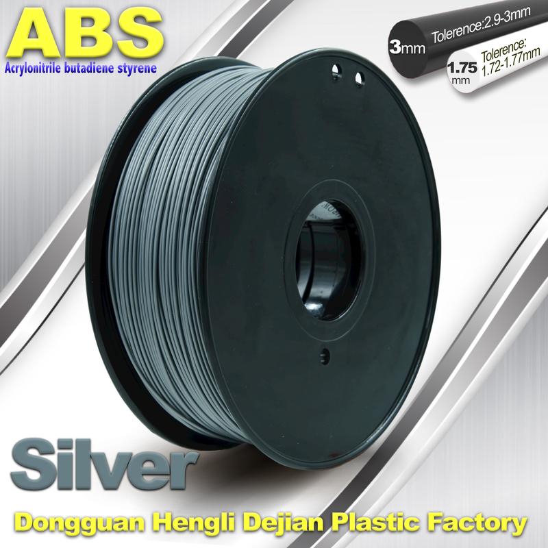 Abs 3d Printer Filament Silver 1.75mm Or 3.0mm 3d Printers & Supplies