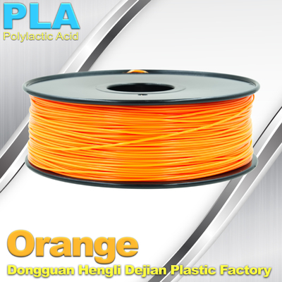 Biodegradable Orange PLA 3d Printer Filament  1.75mm Materials For 3D Printing