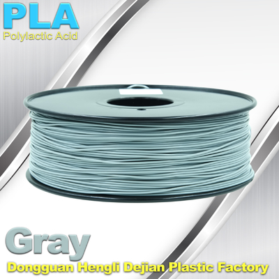 China Professional Gray PLA 3d Printer Filament , 3D Printing Consumables Material factory