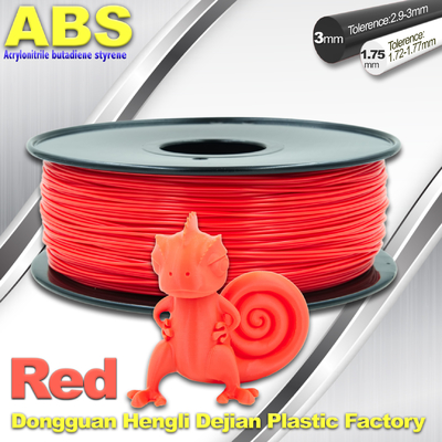 Multi Color 1.75mm / 3mm ABS 3D Printer Filament Red With Good Elasticity