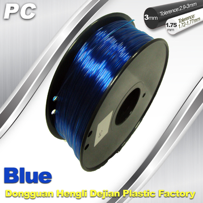 High Strengh Cubify And  3D Printer Polycarbonate Filament 1.75mm / 3.0mm