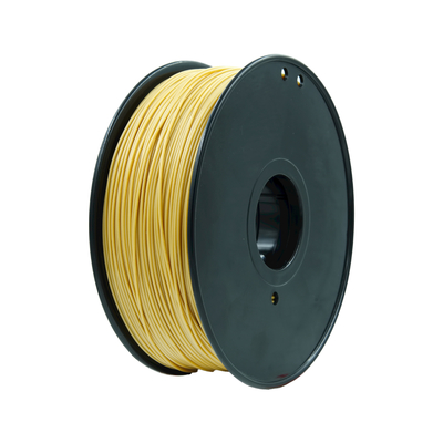 China Gold Color 3.0mm 1.75 Mm 3d Printer Filament Pla , 3d Printer Plastic Filament factory