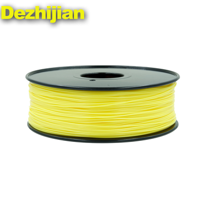 3D Printer Filament Pla 1.75 Mm / 3.0mm Yellow Color 1 Kg Weight