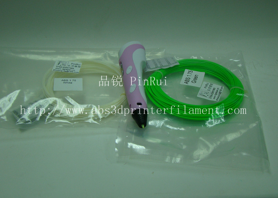 Fluorescent 1.75mm ABS / PLA / HIPS Filament For 3D Printers Pen , Customized