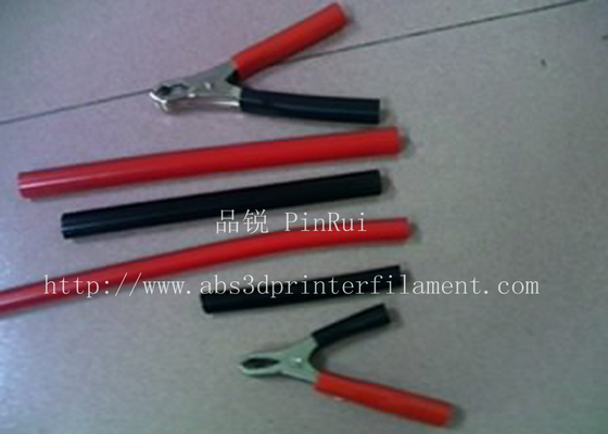Red / Black Plastic Flexible Hose For Alligator Clip , Wire Harnesses , Transformers